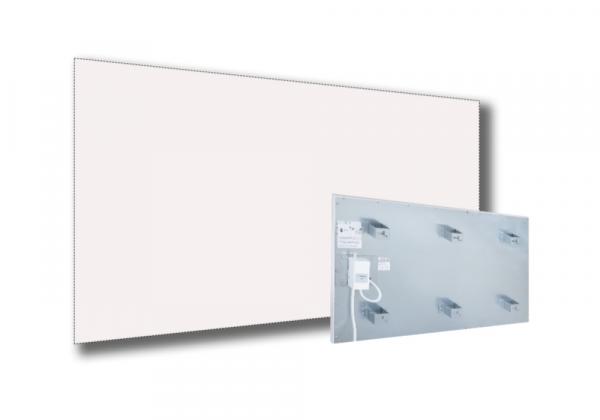Infrarotstrahlungpaneel ISP-Wi weiß (400mm) mit Funkempfänger RF schmale Ausführung von Technotherm