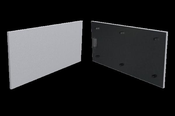400 Watt Infrarotstrahlungpaneel ISP-Wi weiß (400mm) mit Funkempfänger Front- und Rückansicht