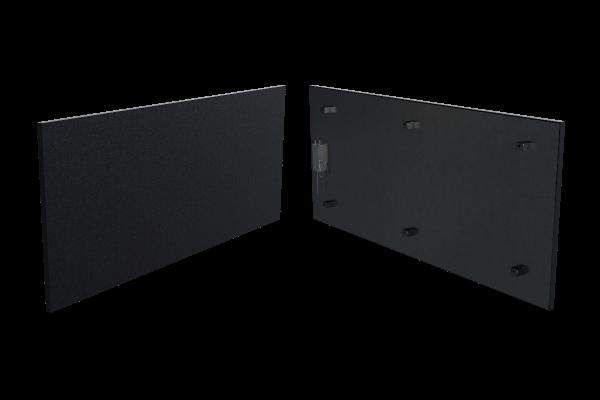 400 Watt Infrarotstrahlungpaneel ISP-Bi schwarz (400mm) mit Funkempfänger Front- und Rückansicht