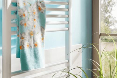 HRi Handtuchtrockner im Badzimmer