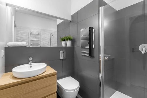 Technotherm Schnellheizer DTH Spiegel mit Bügel im Badezimmer