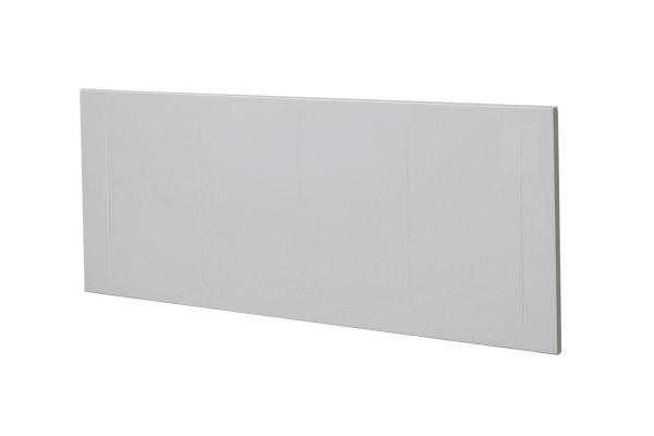 weißer Wandkonvektor VPNi RF mit Funkempfänger von Technotherm Schrägansicht