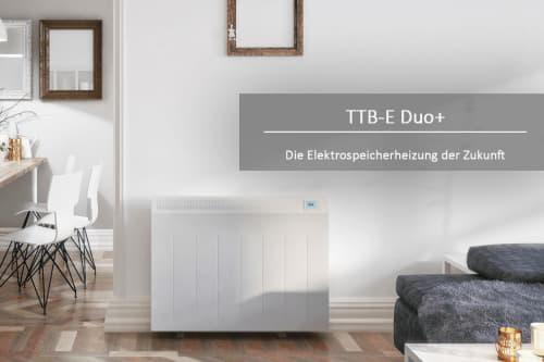 TTB-E Duo im Wohnzimmer Effizienz elektrischer Heizkörper