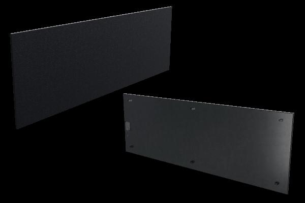 1000 Watt Infrarotheizung ISP-Bi schwarz (600mm) mit Funkempfänger Front- und Rückansicht