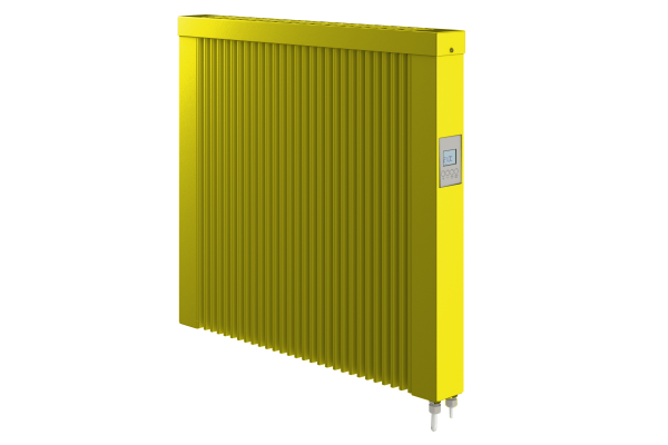 gelbe 1000 Watt Teilspeicherheizung mit optionaler WLAN-Steuerung von Technotherm