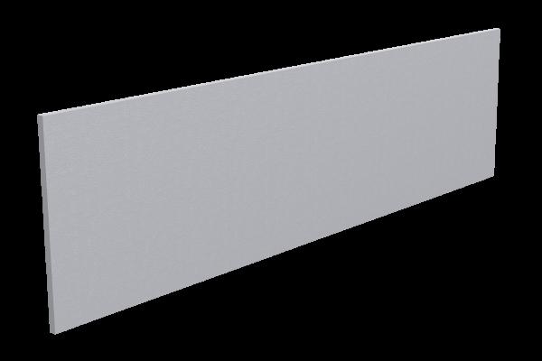 670 Watt Infrarotstrahlungpaneel ISP-Wi weiß (400mm) mit Funkempfänger Frontansicht