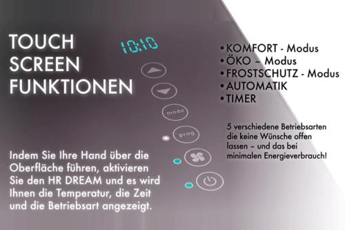 HRi Dream Badheizung Touchscreen
