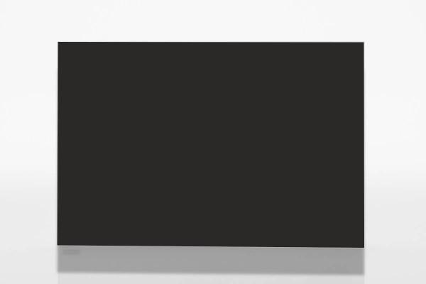 infraNOMIC Slim-Line Glas-Infrarotheizung schwarz Vorderseite