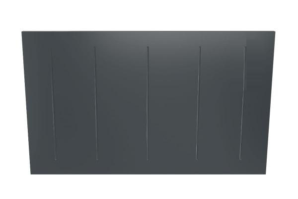 Wandkonvektor VPNi RF anthrazit mit Funkempfänger von Technotherm 1050 mm Breite