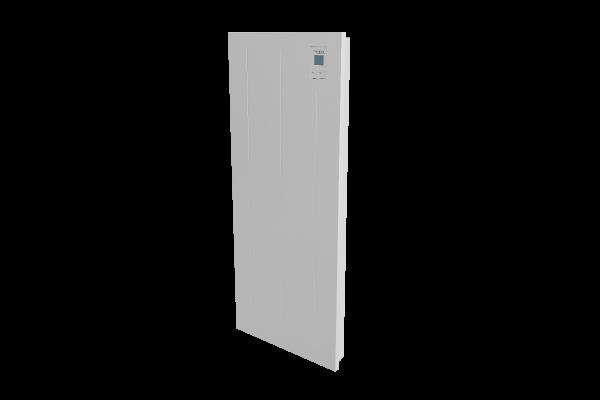 Wandkonvektor VPNi DSM mit DSM Thermostat von Technotherm Schrägansicht