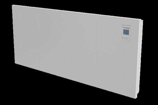 Wandkonvektor VPNi DSM mit DSM Thermostat von Technotherm Schrägansicht 1050 mm Breite