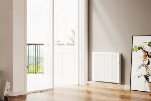 Flächenspeicherheizung areo smart im Wohnzimmer