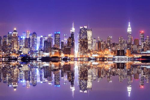 Infrarotheizung mit Motiv City