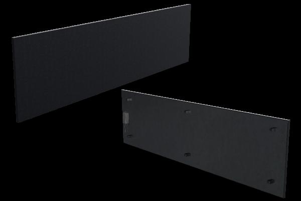 670 Watt Infrarotstrahlungpaneel ISP-Bi schwarz (400mm) mit Funkempfänger Front- und Rückansicht