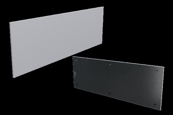 1000 Watt Infrarotheizung ISP-Wi weiß (600mm) mit Funkempfänger Front- und Rückansicht