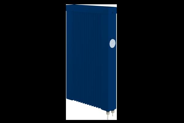 blaue mobile 500 Watt Teilspeicherheizung mit E4 Thermostat