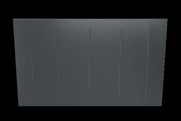 Wandkonvektor VPNi RF anthrazit mit Funkempfänger von Technotherm 750 mm Breite