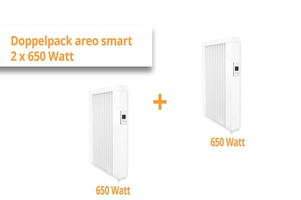 """eVARMO Flächenspeicherheizung """"areo smart"""" 2x 650 Watt Doppelpack"""