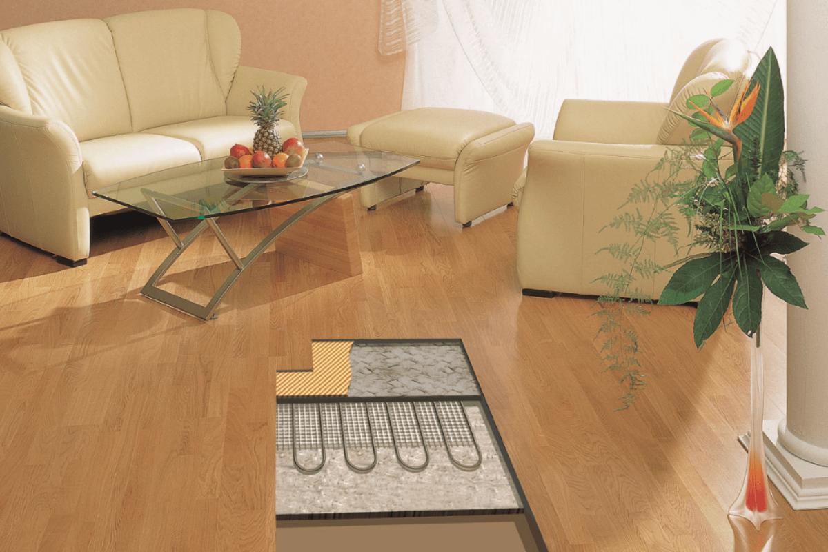 Fussbodenheizung im Wohnzimmer