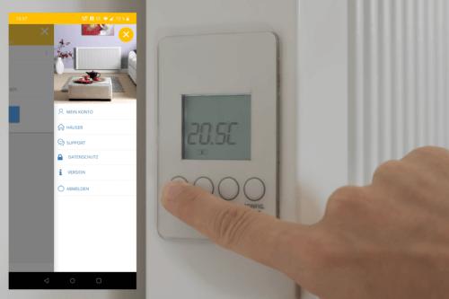 Thermostate einer Flächenspeicherheizung