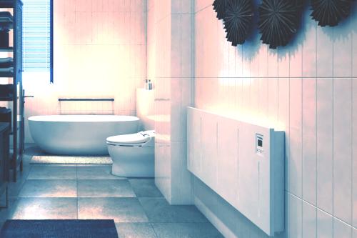 Konvektor im Badezimmer