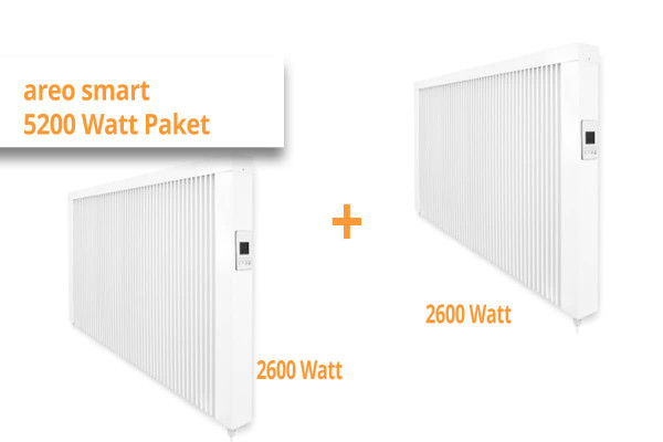 "eVARMO Flächenspeicherheizung ""areo smart"" 5200 Watt Paketset"