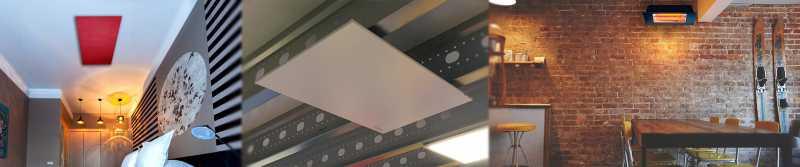 Elektroheizungen an der Decke montiert